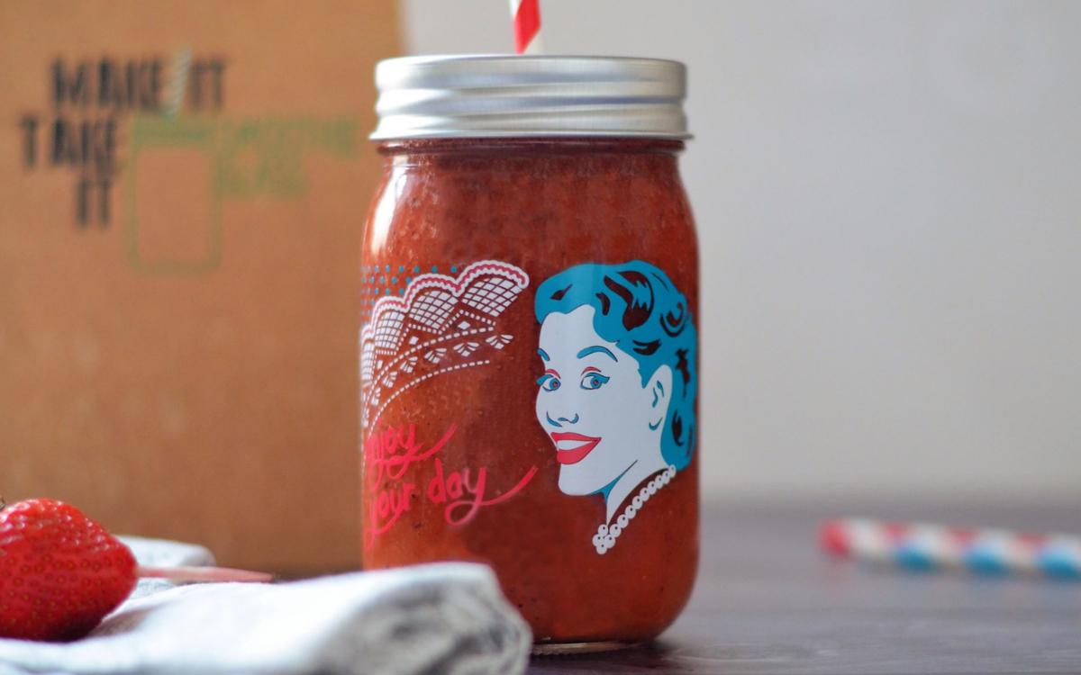 Ein leckerer Erdbeer-Kiwi-Smoothie für jeden Tag.