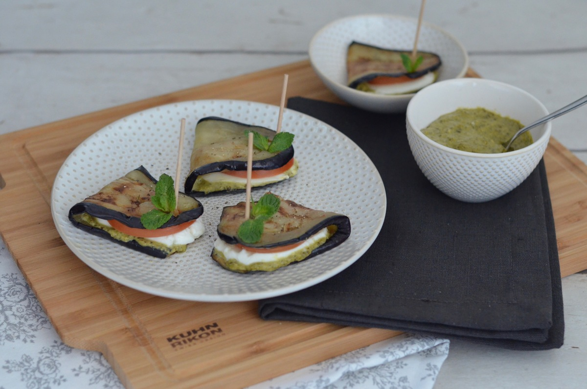 Finger Food: Leckere Auberginen Sandwiches